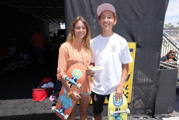 Nora Vasconcellos and Daniel Vargas at Van Doren Invitational
