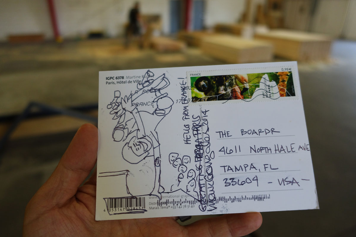 Postcard from Mark Gonzales Side A