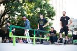 Nick Merlino, Boo Johnson, Alec Majerus, Manny Santiago, and Garrett Hill lined up for Best Trick hucking.