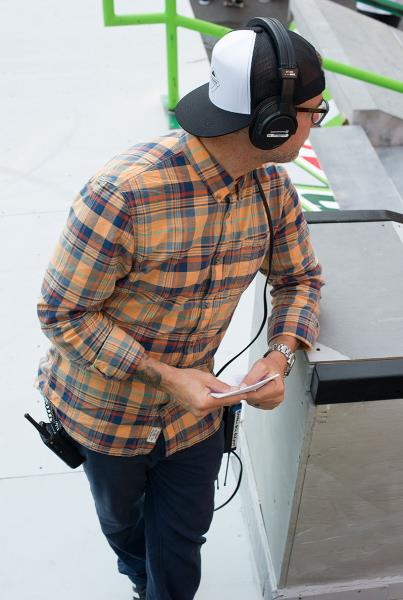 Ryan Geared up for Work at Dew Tour Portland