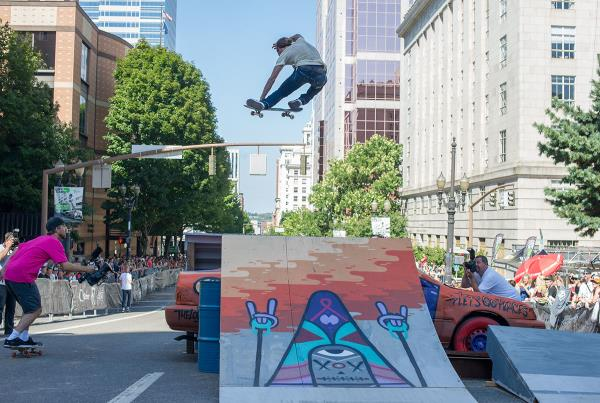 Riley Hawk Tweker at Dew Tour Portland