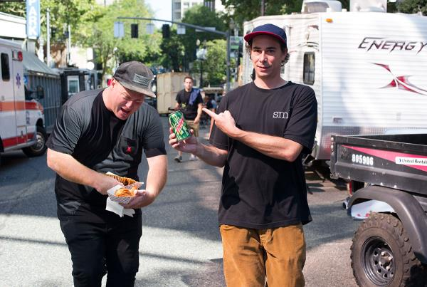 Mike Sinclair and James Craig at Dew Tour Portland