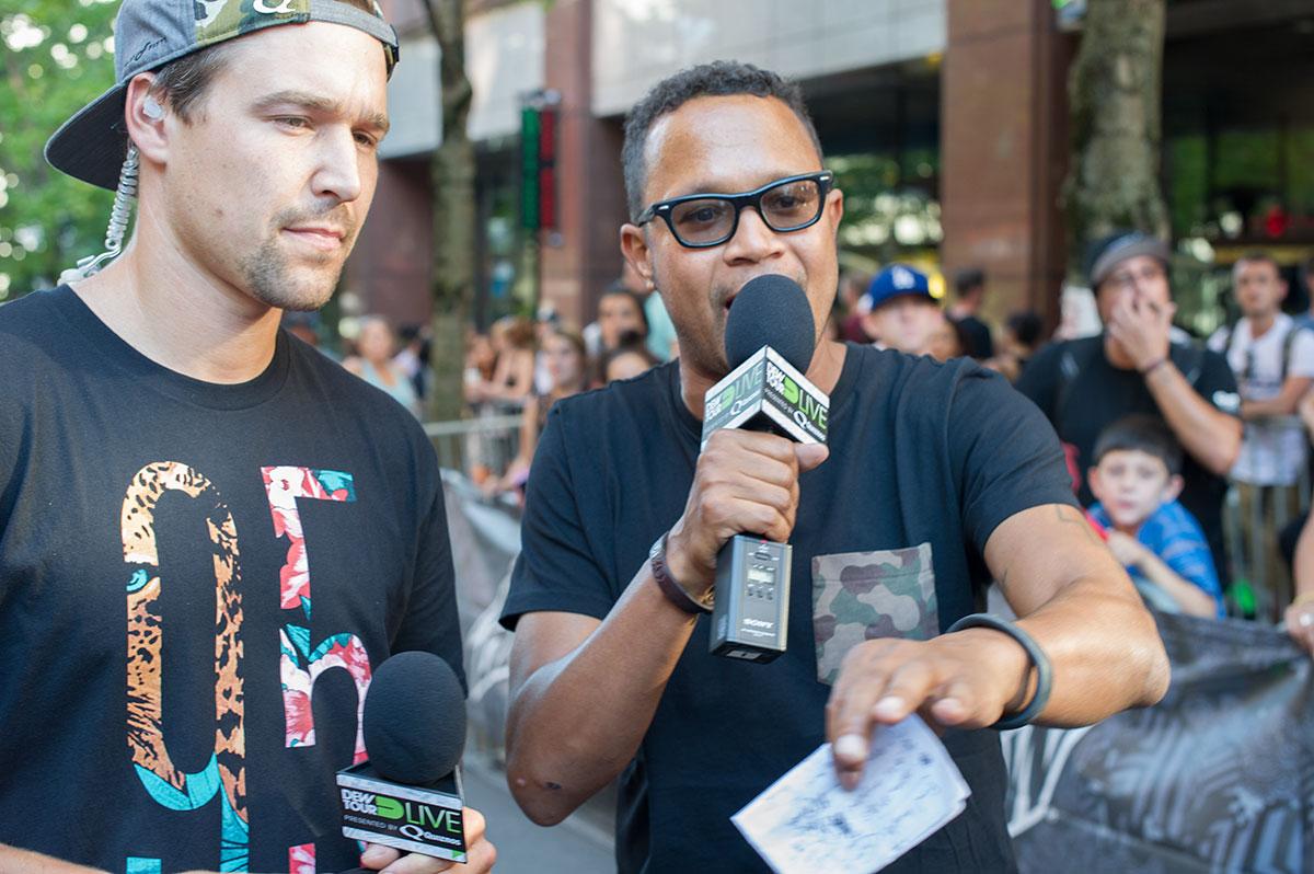 Jordan Hoffart and Chris Pastras at Dew Tour Portland
