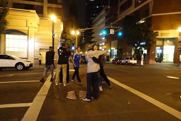 Bro Hugs at Dew Tour Portland