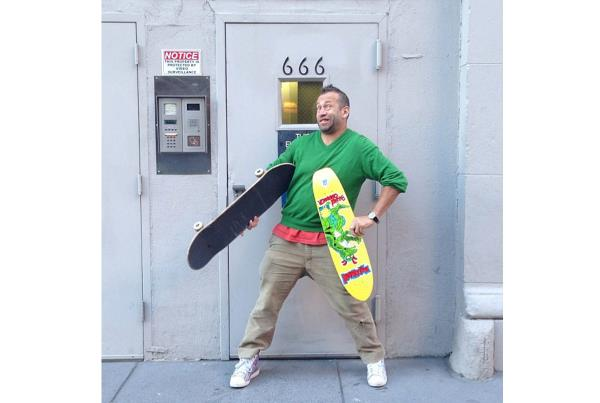 Mark Gonzales with Brad Cromer's New Pro Model