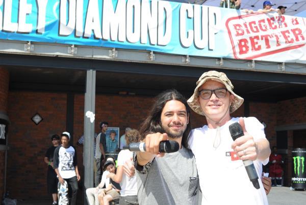 Porpe on the Mic With Jeff Pang at Kimberley Diamond Cup
