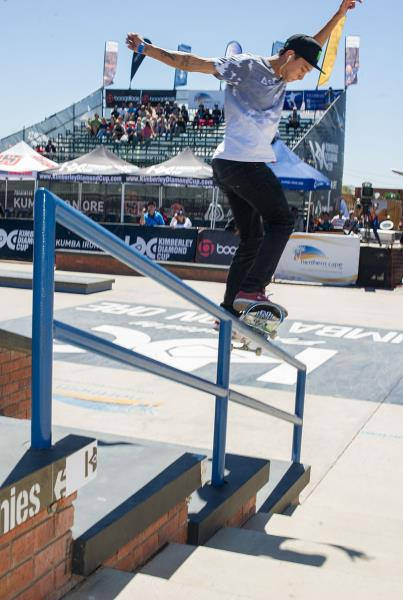 Nyjah Huston Switch Smith Grind