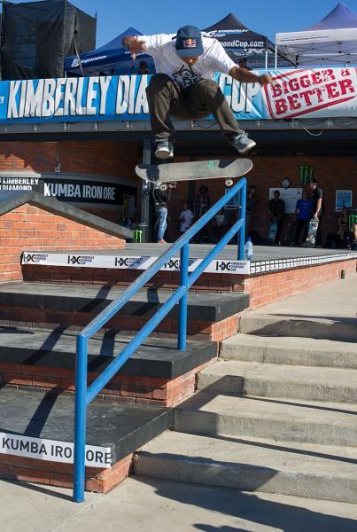 Felipe Gustavo Frontside Flip Over the Rail