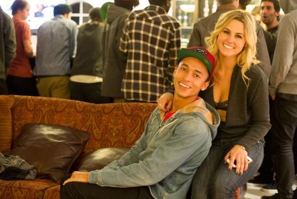 Nyjah Huston and His Girlfriend at Kimberley Diamond Cup