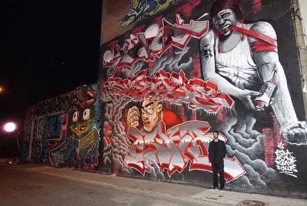 Porpe Graffiti Zone in Montreal