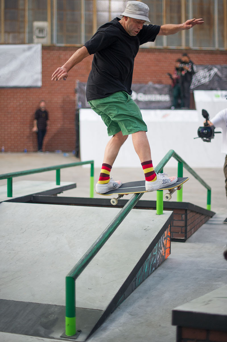 Mark Gonzales Frontside Boardslide at Dew Tour Brooklyn