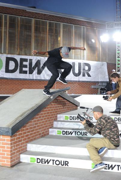 Felipe Gustavo Nollie Flip Crook at Dew Tour Brooklyn