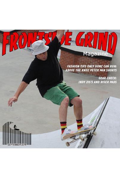 Gonz in Frontside Grind Magazine at Dew Tour Brooklyn
