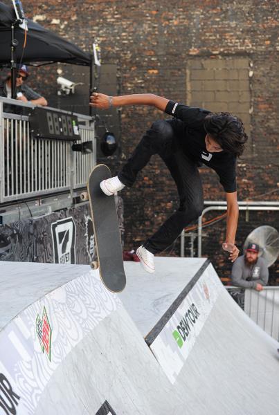 Louie Lopez Fakie Flip Noseblunt at Dew Tour Brooklyn