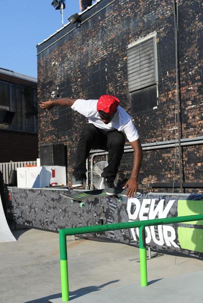 Theotis Backside Flip at Dew Tour Brooklyn