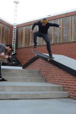 Trevor Colden, nollie heelflip noseslide.