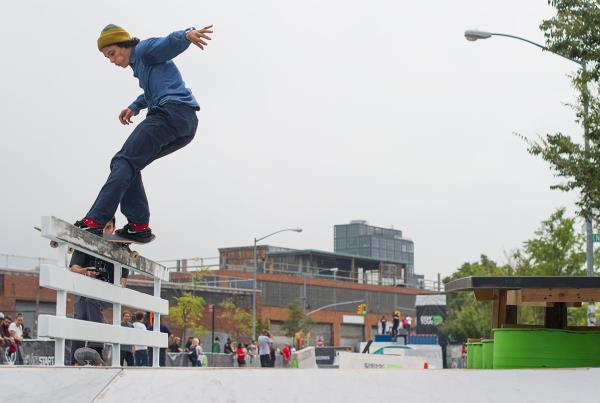 Trevor Colden Front Feeble at Dew Tour Brooklyn
