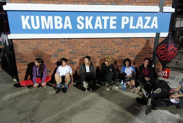 Female Skateboarders at Kimberley Diamond Cup
