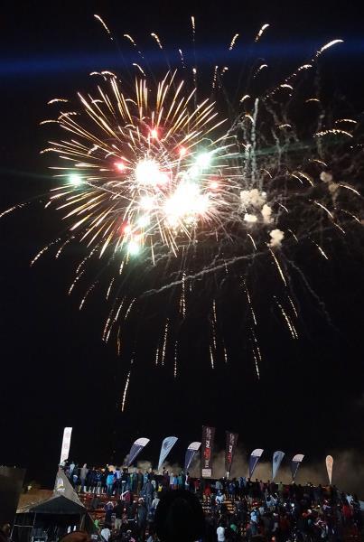 Fireworks at Kimberley Diamond Cup 2014