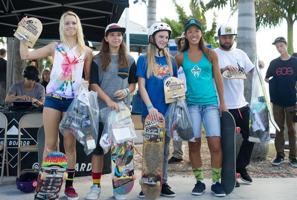 Girls Street Winners at Grind for Life Bradenton