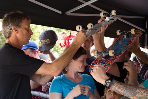 Tony Hawk Signs Boards at Get Rad for Ray