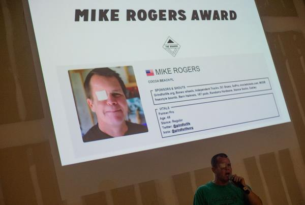 Mike Rogers at GFL Awards