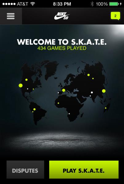 Nike SB App: Play a Game of SKATE