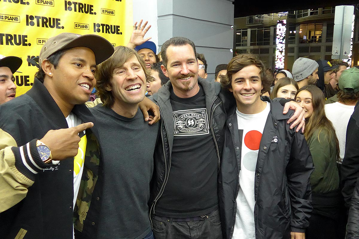 Rodney Mullen and Jeremy Wray at the Plan B Premiere