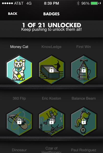 Nike SB App: Badges