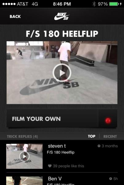 Nike SB App: Tricks