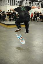 Ira stomped on everyone with heavy feet. He can do anything on flatground. This is a fakie 360 flip.
