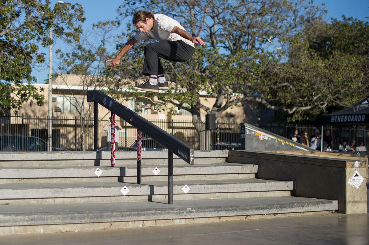 Jon Cos Nollie Heelflip FSBS at The Boardr Am Los Angeles