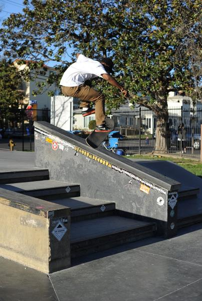 Dashawn 360 Flip 50-50 at The Boardr Am Los Angeles