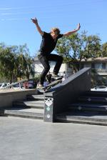 Joey Ragali, frontside 180 fakie 5-0.