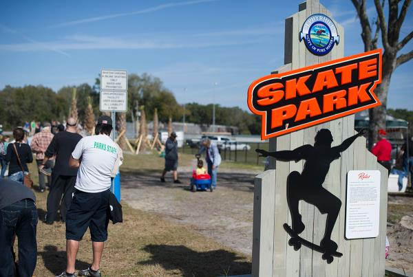 Zephyrhills Skatepark Entrance