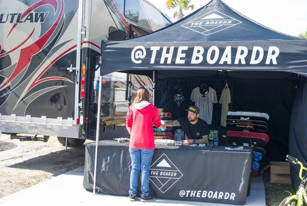 The Boardr Pop Up Store at Zephyrhills Skatepark