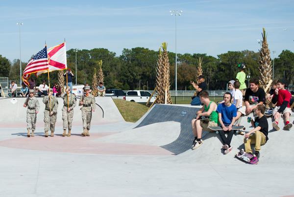 JROTC at Zephyrhills Skatepark