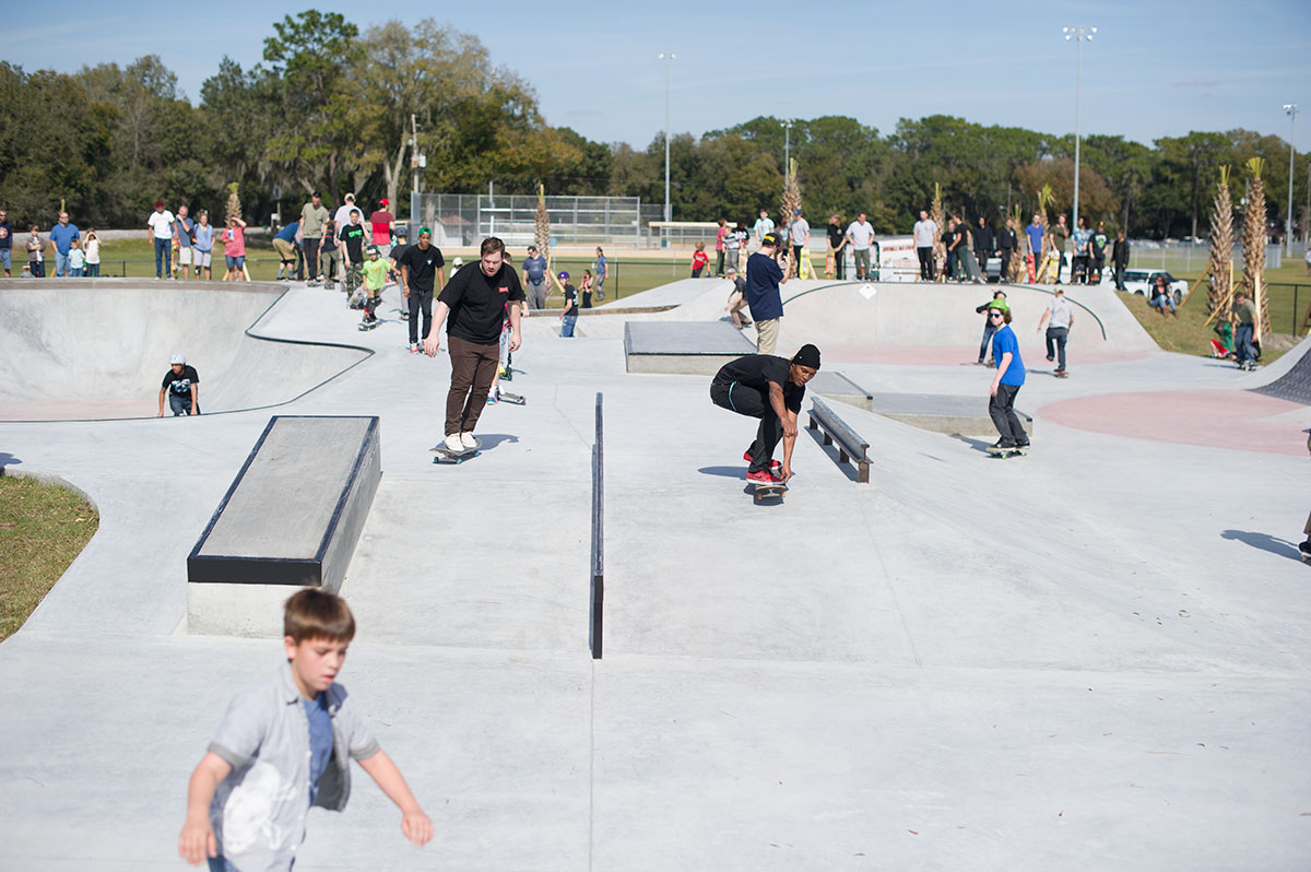 James Early Grab at Zephyrhills Skatepark