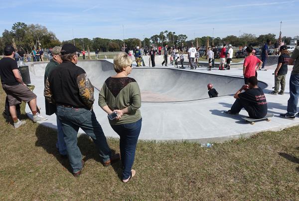 Parents at Zephyrhills Skatepark