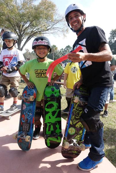 Raffle Winners at Zephyrhills Skatepark