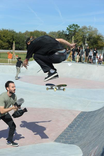 Eric McKenney Hardflip at Zephyrhills Skatepark