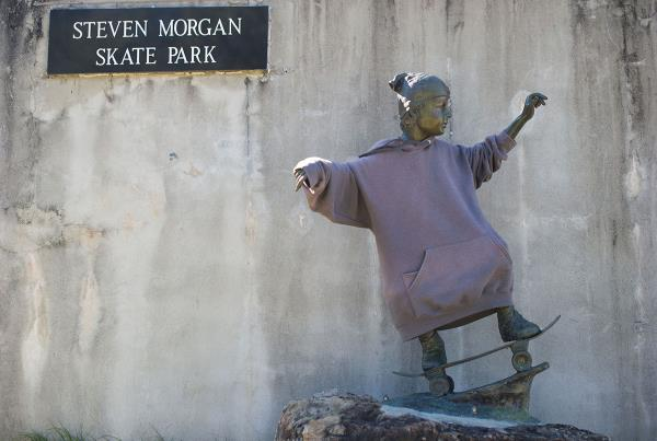 Odd Skateboard Statue