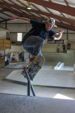 Zac Votruba on a back smith pole jam.