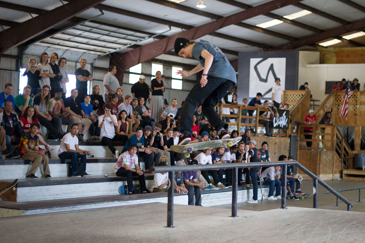 Kickflip Back Lip at The Boardr Am at Houston