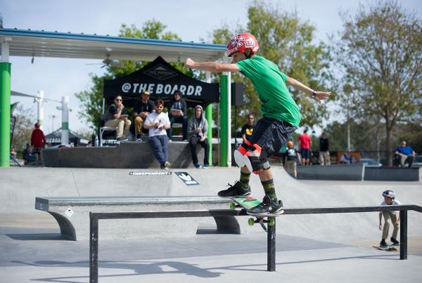 Jake on a Lipslide at GFL Lakeland