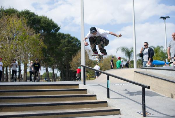 Robbie Hardflips the Rail at GFL Lakeland