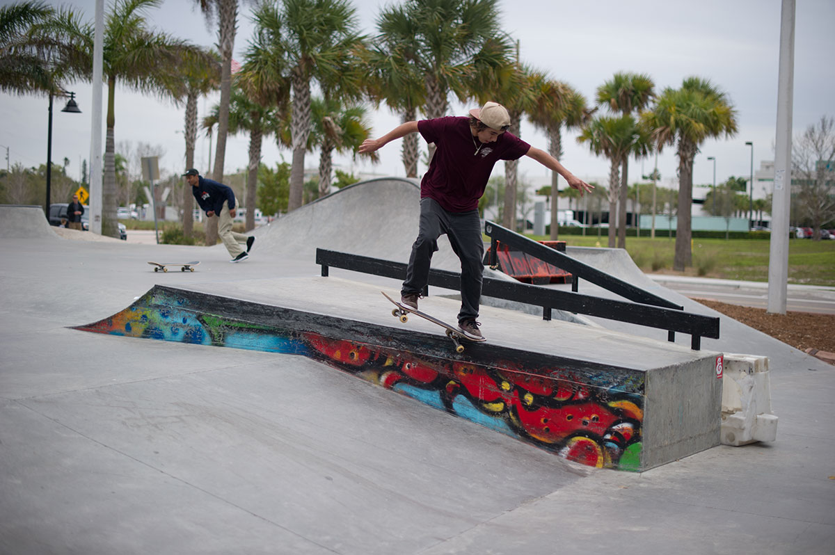 Brandon Martins Nollie Crook at The Boardr Am at Tampa Bay