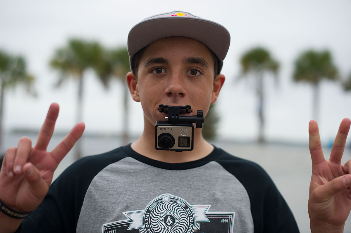 Alex Midler GoPro Mouthpiece at The Boardr Am at Tampa Bay