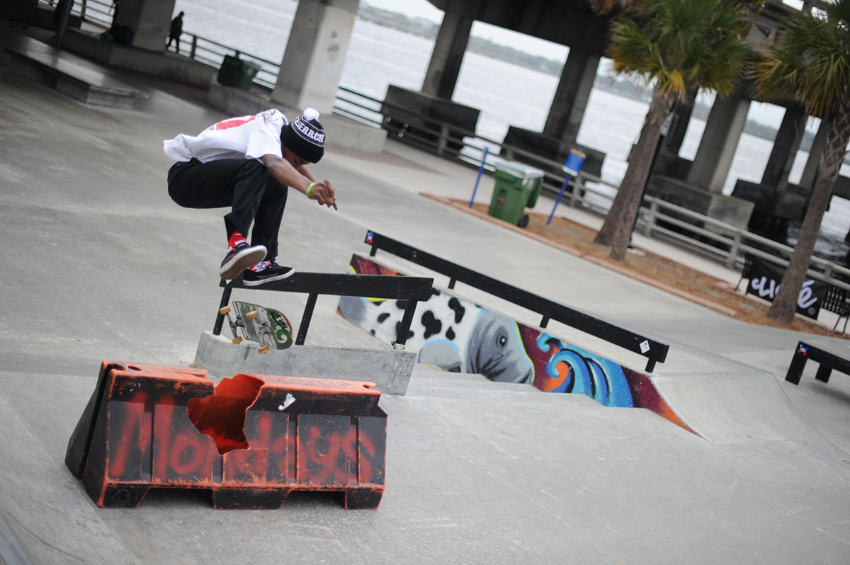 Chuckie Wooder Kickflip at The Boardr Am at Tampa Bay