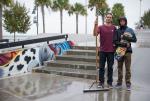Jorge on water patrol and Alex on skate patrol.